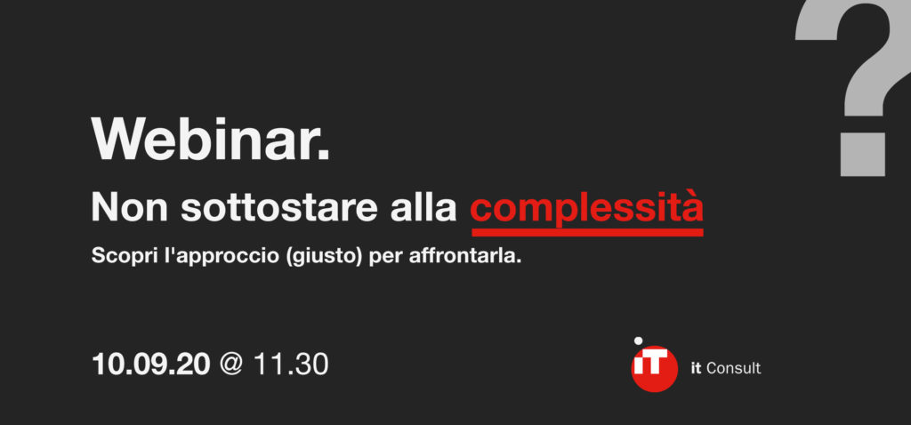 webinar gestione della complessità